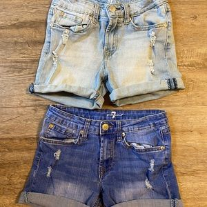 7 for All Mankind Girls Shorts Sz 14